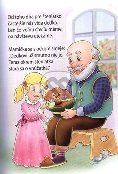Výsledok vyhľadávania obrázkov pre dopyt detské básne Montessori Education, Prague Castle, Grandparents Day, Diy And Crafts, Disney Characters, Fictional Characters, Family Guy, Reading, Ms
