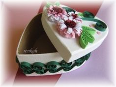 quilling, Gift box Quilling, Box, Floral, Flowers, Gifts, Jewelry, Weaving, Bedspreads, Snare Drum