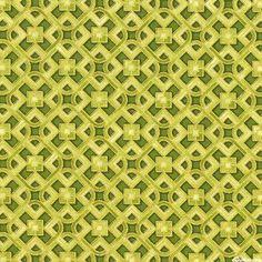 Grand Majolica - Glazed Trellis - Bamboo Green/Gold