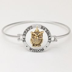 Wisdom Bracelet / Be Brave / Be Smart
