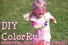 Holi color packets for a DIY color run birthday at the park