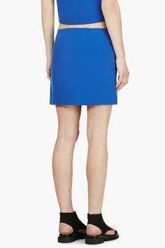 JACQUEMUS Blue Circle Mini Skirt