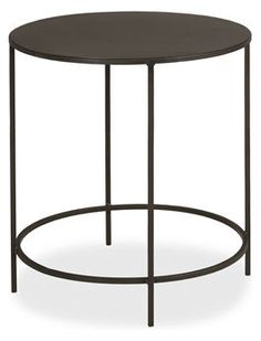 Slim Round 25 inch round nightstand/side table $189 Room and Board