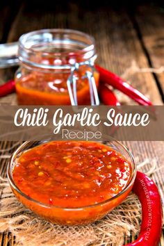 This homemade chili garlic sauce recipe has the same fiery flavor of the store-bought stuff, but you get to control its sweetness and use your own peppers. Recipes With Chili Garlic Sauce, Hot Pepper Recipes, Sauce Chili, Hot Sauce Recipes, Chilli Recipes, Canning Recipes, Homemade Chili Sauce, Chilli Pepper Sauce Recipe, Sambal Sauce Recipe