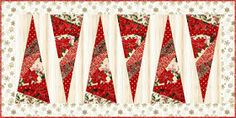 Quilt Inspiration: Free pattern day: Christmas Table Runners! Xmas Table Runners, Quilted Table Runners Christmas, Christmas Patchwork, Patchwork Table Runner, Christmas Quilt Patterns, Christmas Runner, Table Runner And Placemats, Table Runner Pattern, Diy Christmas Ornaments