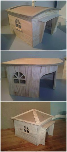 Dog House With Pallets #PalletDoghouse, #RecycledPallet