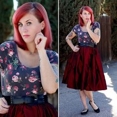 Feeling fancy in my new taffeta Jenny skirt!  Also wearing one of my fly trap brooches,  only one left in my Etsy shop #pinupgirl #pinupgirlclothing #pinupstyle #ootd #lookoftheday #outfitoftheday #whatiwore #wiw #tattoo #tattoos #littleshopofhorrors #audreytwo #venusflytrap #flytrap #brooch #handmade #noveltybrooch #etsy #shop #pin #buyme #redhead #redhair
