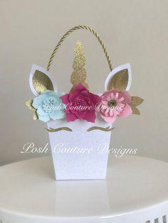 Bolsa Favor de unicornio / Unicorn Favor caja / partido