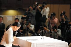 Figure skater Mao Asada attends a press conference on her retirement on April 12, 2017 in Tokyo, Japan.