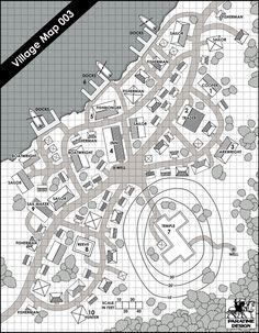 Village Map 003 - Paratime Design | Location Maps | DriveThruRPG.com