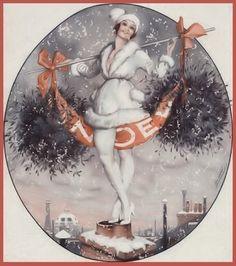 Christmas  Leo Fontan  LVP  1921  For La Vie Parisienne