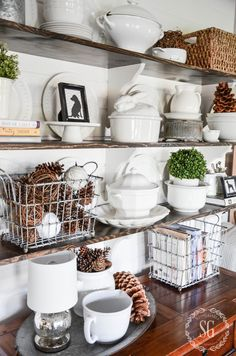 OPEN SHELVES IN THE BREAKFAST ROOM Dining Room ShelvesDining RoomsHutch