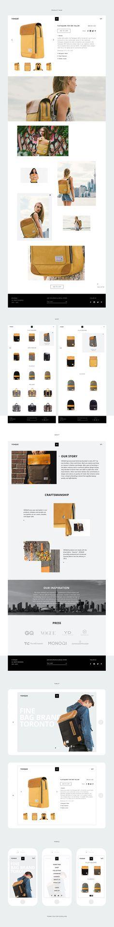 Venque rebranding on Web Design Served