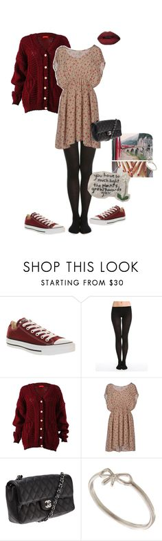 """Untitled #136"" by nika-hp ❤ liked on Polyvore featuring Converse, Bleuforêt, Attic and Barn, Chanel and Dogeared"