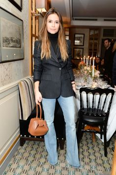 Miroslava Duma Denim would a suit jacket is a casual elegant and business like look