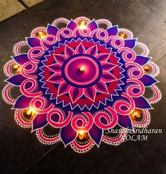 We have included beautiful diwali rangoli designs from shanthi's gallery. It's believed that rangoli designs started many centuries ago. Some refrences of rangoli designs are also available in our Indian Rangoli Designs, Simple Rangoli Designs Images, Rangoli Designs Latest, Rangoli Designs Flower, Small Rangoli Design, Rangoli Designs With Dots, Flower Rangoli, Beautiful Rangoli Designs, Kolam Designs