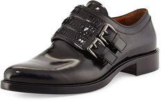 Givenchy Napoleone Leather Double-Monk Shoe