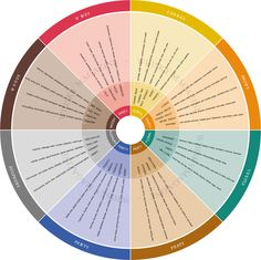 I like the established beer flavour wheel , which was introduced in the 1970s by brewing chemist Dr Morten Meilgaard .  It works well,...