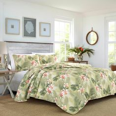 King Quilt Sets, Queen Quilt, Tommy Bahama, Green Orchid, Green Bedding, King Pillows, Tropical Style, Twin Quilt, Home Gifts