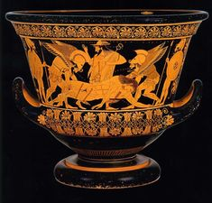 The Euphronios Krater looted from Italy in 1971 purchased by the Met in 1972 for $1 million and now returned to Italy [1000x956]