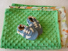 I really want a Minky Baby Blanket for baby, I'll have to ask someone to make us one! Especially since he/she is a winter baby!