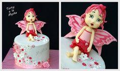 pink fairy cake