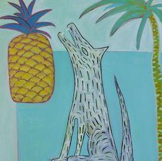 Tyler Stone Pineapple love , 2015  oil on canvas  90 x 90 cm