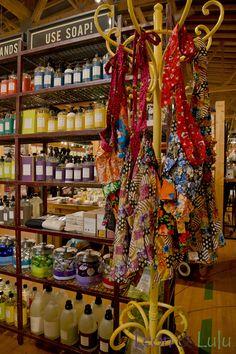 ddabba4e7e3 Caldrea dish soaps + colorful patchwork aprons  Leon   Lulu
