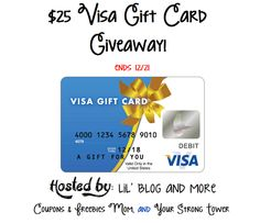 Enter to Win $25 Visa Gift Card Giveaway Ends 12/21