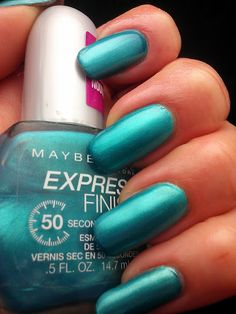 Maybelline Express Finish in Timely Turquoise