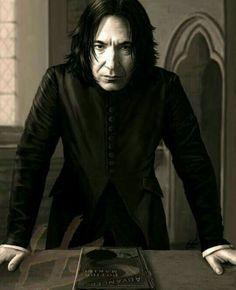 Alan Rickman ( Severus Snape ) R. Hermione Granger, Draco Malfoy, Snape Harry Potter, Professor Severus Snape, Mundo Harry Potter, Harry Potter Severus Snape, Severus Rogue, Harry Potter Fan Art, Harry Potter Characters