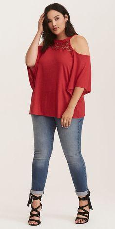 Plus Size Cold Shoulder Top - Plus Size Fashion for Women #Plussize