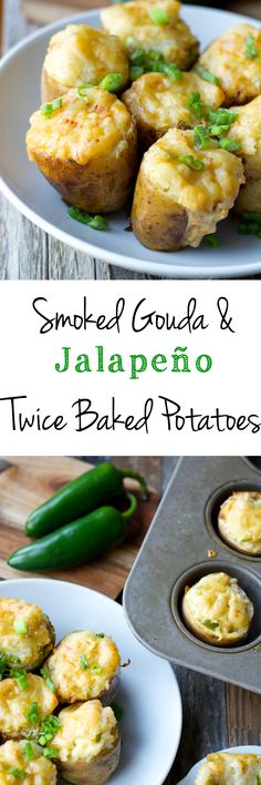 Chipotle Gouda and Jalapeño Twice Baked Potato! The perfect, spicy, cheesy side dish! Step by step photos! www.maebells.com