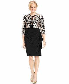 019bb3724 Alex Evenings Sequin Lace Dress and Jacket - Dresses - Women - Macy s T6  T10 y
