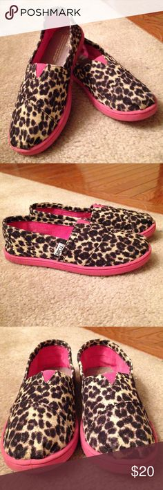 TOMS Girls Pink and Cheetah Print Shoes Size Y3 TOMS Girls Pink and Cheetah Print Shoes Size Y3. These adorable little girls TOMS are cute as a button. GUC 🚫🚫Trades, paypal, any questions in the comments regarding price please use the offer button or they will be ignored🚫🚫 Shoes