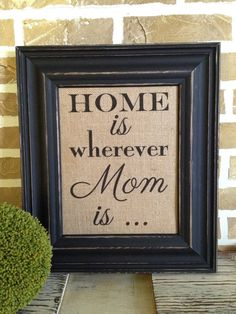 Mother's Day  Burlap Print by SimplyFrenchMarket on Etsy, $20.00