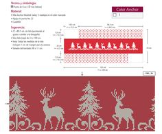 Reindeer border free cross stitch pattern (photo)