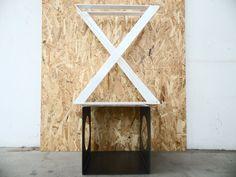 28 X-frame Flat Steel Table Legs 20 Wide Height 26 by Balasagun