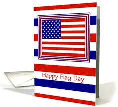 Flag Day Card With American Flag/Custom card. Thank you customer in Virginia!