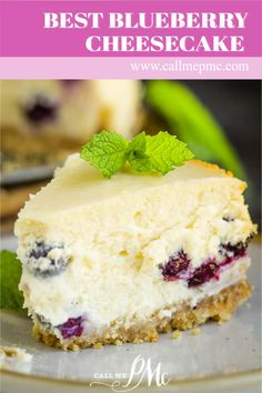 Best Blueberry Cheesecake Recipe (better than Starbucks) - vanilla wafer crust full of fresh fruit. Homemade recipe with detailed instructions #cheesecake #recipes #dessert #callmepmc #dessertrecipe #blueberry How To Make Cheesecake, Best Cheesecake, Blueberry Cheesecake, Cheesecake Recipes, Pound Cake Recipes, Cupcake Recipes, Cupcake Cakes, Dessert Recipes, Cookbook Recipes