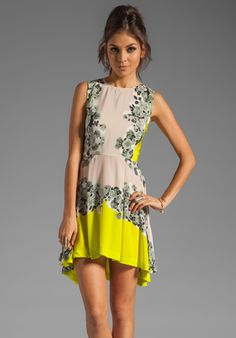 SHAKUHACHI Acid Bloom Kick Out Dress in Citrus at Revolve Clothing - Free Shipping!