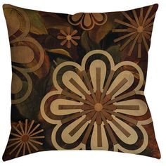 Floral Abstract II Indoor/Outdoor Throw Pillow