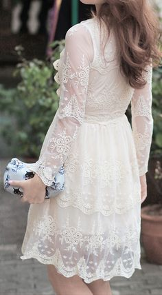Mi Amore Lace Dress|Chicwish..Love this dress