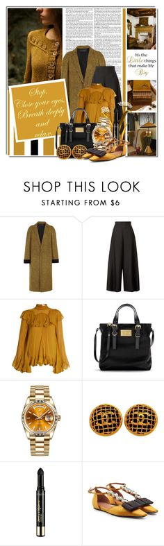"""""""Stop......Close your eyes, breathe deeply and relax..."""" by queenrachietemplateaddict ❤ liked on Polyvore featuring Mustard Seed, Haider Ackermann, The Row, Chloé, Rolex, Chanel, L'Oréal Paris and Marni"""