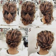 Hoe halflang haar opsteken – How to light half long hair – up Related posts:Selena Gomez short bob hair style and curls Cute Short Hairstyles and Haircuts for Round Faces and How to Pull Them Off!Short Curly Hairstyles You Need to Try Short Hair Updo, Hairstyles For Long Hair Easy, Curly Hair Styles, Easy Updos For Medium Hair, Diy Hairstyles, Medium Hair Styles, Natural Hair Styles, Haircuts, Wedding Hairstyles