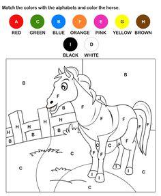 Practice Alphabet Worksheets for Kids | Free Printable Color by Letter Worksheets