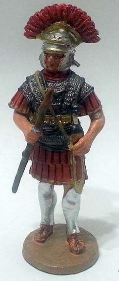 """Centurione, Legio XX Valeria, numero 43 di """"Roma e i suoi nemici"""" (2009 Vadis) #Miniatures #Figures #AncientRome #OspreyPublishing #Centurion"""