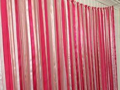 ribbon backdrop wedding ribbon backdrop ballerina party backdrop bridal shower backdrop pink gold bridal shower baby shower backdrop