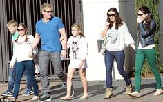 Making a move: Gordon Ramsay and his wife Tana have become fond of LA life- though their children Megan Jane, Jack Scott, Holly Anna, and Matilda will still be schooled in the UK