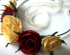 ROYAL Red ivory bride Crown Flower Girl Wreath Hair Garland Festival Crown Flower Girl Halo Hair Wreath Red bridesmaid Baby Shower headband Hair Accessories Wreaths Tiaras Wedding accessories paper Flower crown Flower girl Halo baby shower decor crepe paper flower red roses wreath unique nursery decor Flower Girl Accessor red wreath bridesmai roses Hair wreath red Spring wreath 9.00 USD babyshowerflowers